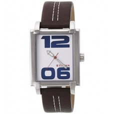 Black dial leather strap watch for men 1593sI03 (Product Code:AE 03)