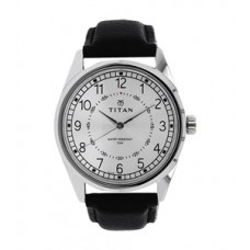 Titan Black Dial Leather Strap Watch for Men 1729 sI 01 (Product Code:AE 05)