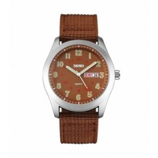 Skmei men,s brown dial wrist watch 9112(Product Code: AE 10)