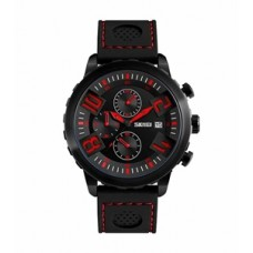 Skmei quartz belt wrist watch for men 9153 red  (Product Code: AE 14)